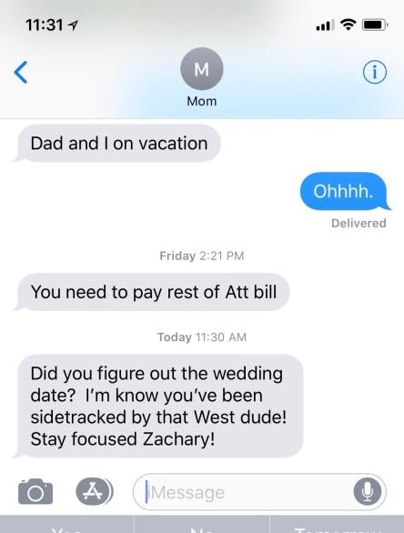 Mom Kanye Text